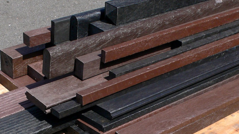 Recycled plastic lumber profiles