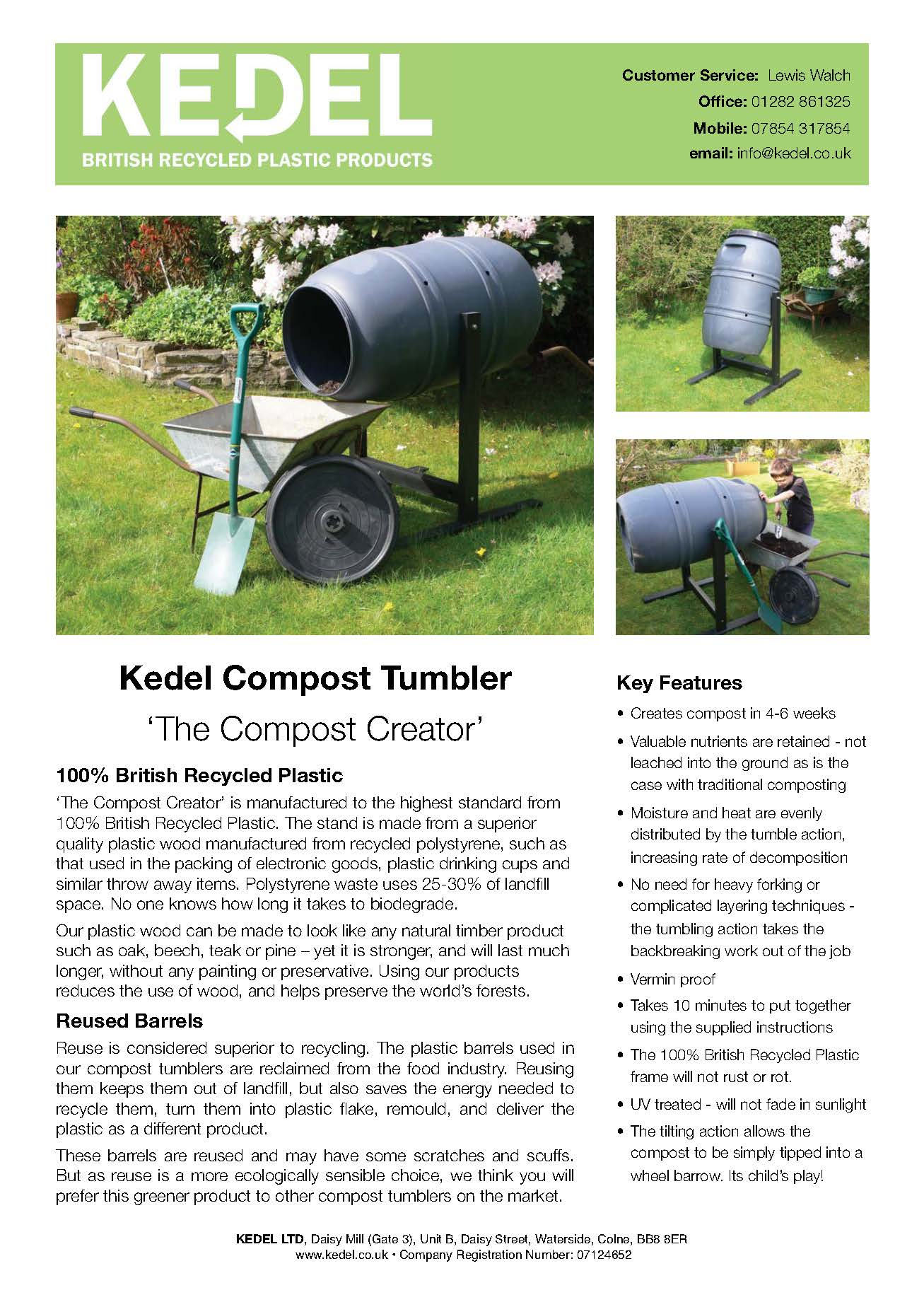 Recycled Plastic Compost Stumbler