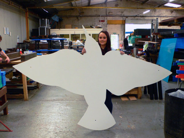 """The Swoop"" Starlings Land Scupture 