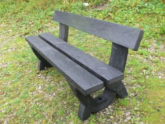 Clyde 3 seater bench - 100% recycled plastic