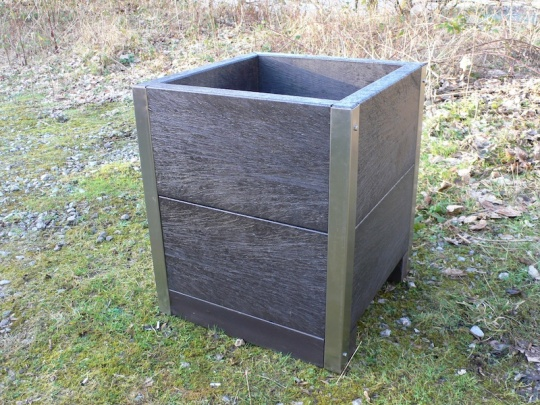 Recycled Plastic Planter (H)700mm with S/S Reinforced Corners