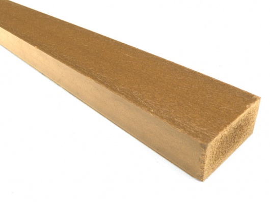 Plastic wood synthetic wood recycled plastic 50 x 25mm for Recycled plastic decking