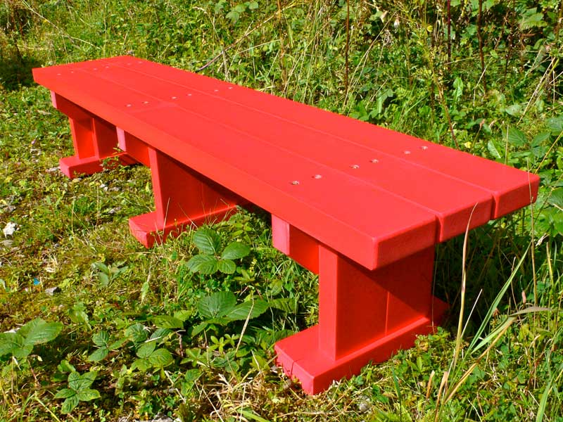 Derwent junior seat bench recycled plastic wood for Outdoor plastic bench seats