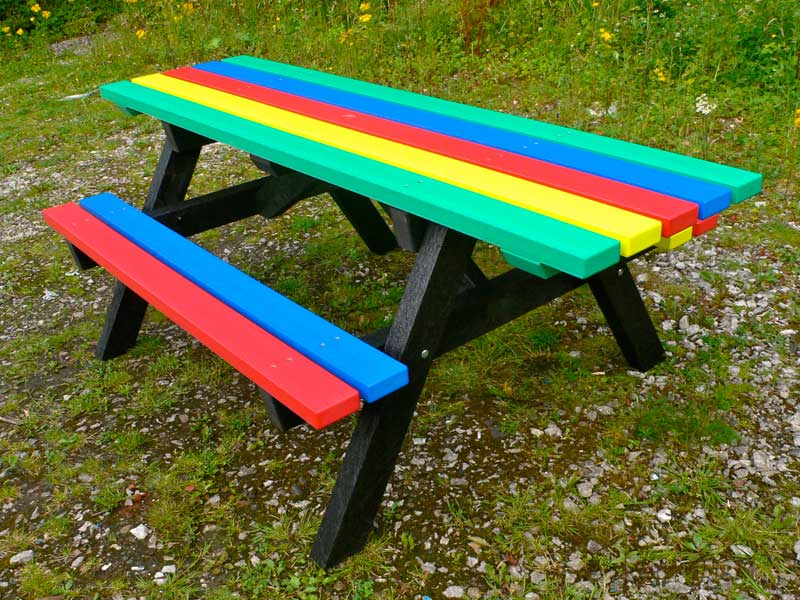 Ribble Rainbow Picnic Table WheelchairPushchair Friendly