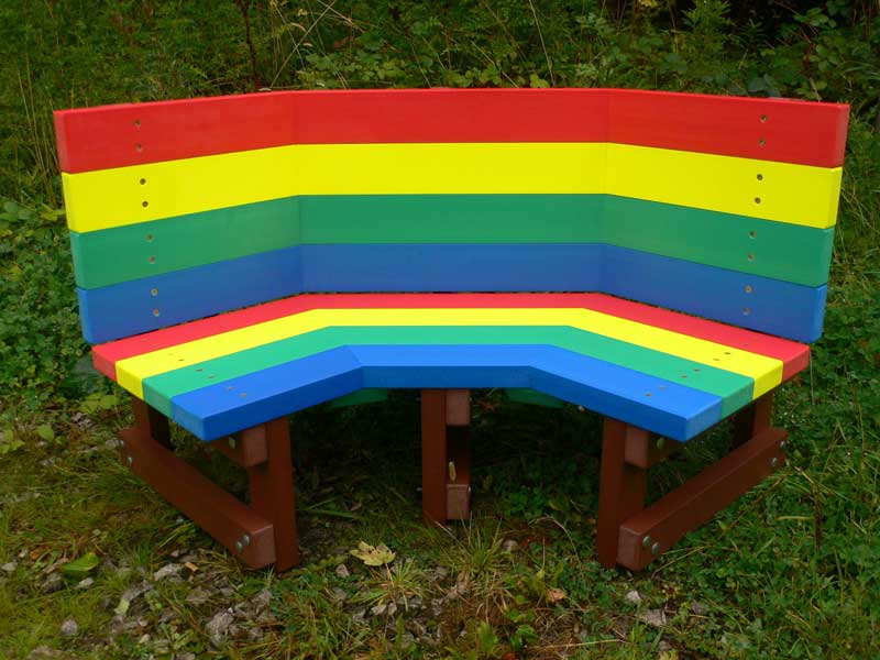 Multicoloured Children S Buddy Bench