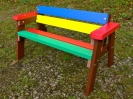 Recycled Plastic Children's Multicoloured Bench | Thames