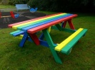 Recycled Plastic Picnic Table | Extended Ends | Derwent
