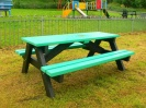 Colour: Green seats and top,  Dimensions: (L)1500 x (W)1100 x (H)610 x (SH)360mm
