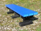 Colour: Blue Slats/Black Base,  Size: (L)1200 x (W)310 x (H)305 x (SH)305mm