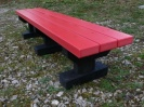 Colour: Red Slats/Black Base,  Size: (L)1500 x (W)310 x (H)305 x (SH)305mm