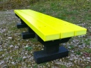 Colour: Yellow Slats/Black Base,  Size: (L)1200 x (W)310 x (H)305 x (SH)305mm