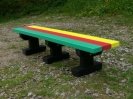 Colour: Multicoloured Slats/Black Base,  Size: (L)1500 x (W)310 x (H)305 x (SH)305mm
