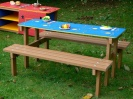 Recycled Plastic Junior Picnic Table | Maze Play with Reversible Top