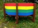 Recycled Plastic Multicoloured Children's Buddy Bench