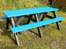 Recycled Plastic Multicoloured Picnic Table | Rainbow Furniture