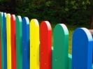 Round Top Multicoloured Fence Pales | Recycled Plastic Wood
