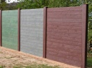 Recycled Mixed Plastic Mid Section Post for View Protection Wall 160 x 120mm