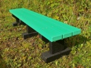 Colour: Green Slats/Black Base,  Size: (L)1500 x (W)310 x (H)305 x (SH)305mm
