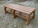 Colour: Oak,  Dimensions: (H)460mm x (Seat W)460mm, (Width at Base)600mm x (L)1500mm.