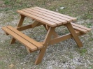 Colour: Oak,  Size: (L)1500 x (W)1300 x (H)770 x (SH)490mm,  Type: Traditional picnic table