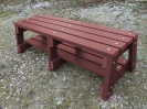 Colour: Mahogany,  Dimensions: (H)460mm x (Seat W)460mm, (Width at Base)600mm x (L)1500mm.