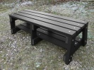 Colour: Black,  Dimensions: (H)460mm x (Seat W)460mm, (Width at Base)600mm x (L)1500mm.