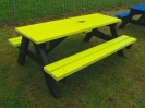 Colour: Yellow seats and top,  Dimensions: (L)1500 x (W)1100 x (H)610 x (SH)360mm