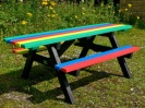 Recycled Plastic Picnic Table | Wheelchair/Pushchair Friendly | Ribble Rainbow
