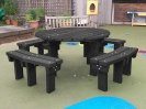 Colour: Black,  Type: Adult, Age 14+ Table (H)760mm - Seat (H)460mm
