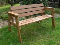 Recycled Plastic 3 Seater Garden Bench