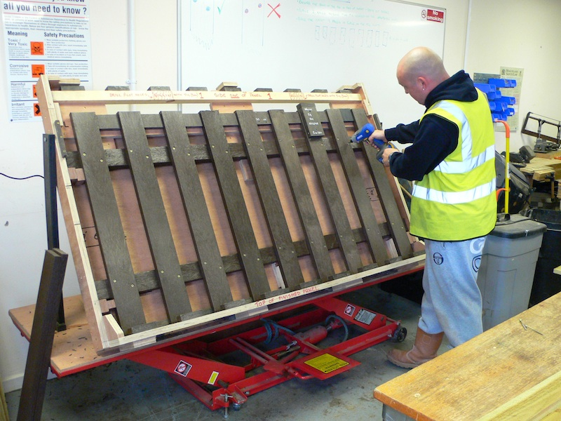 construction of recycled plastic fence panel