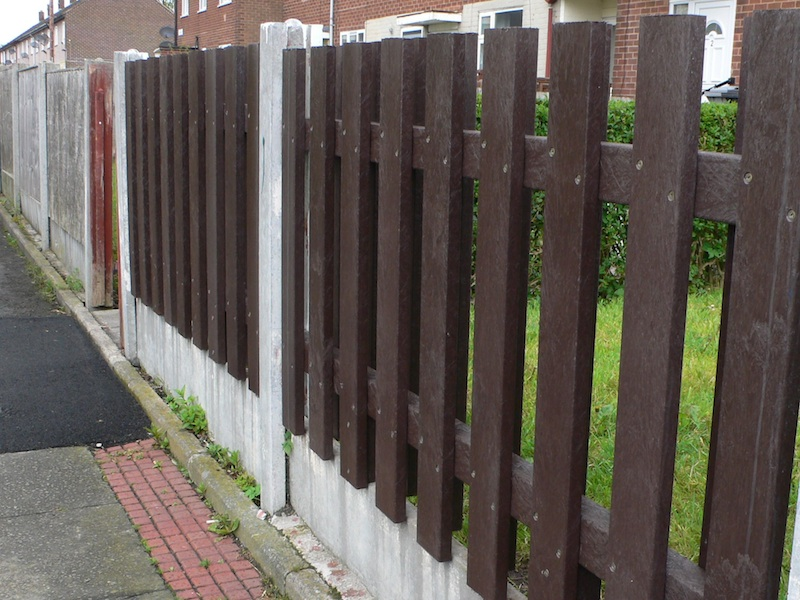 recycled plastic hit and miss fence panel in Manchester