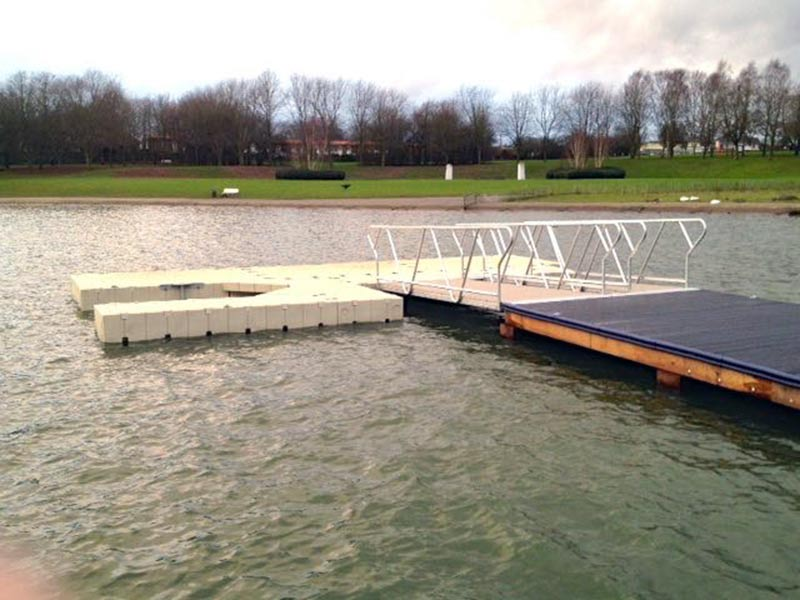 Recycled Plastic Pontoon and Decking from Kedel