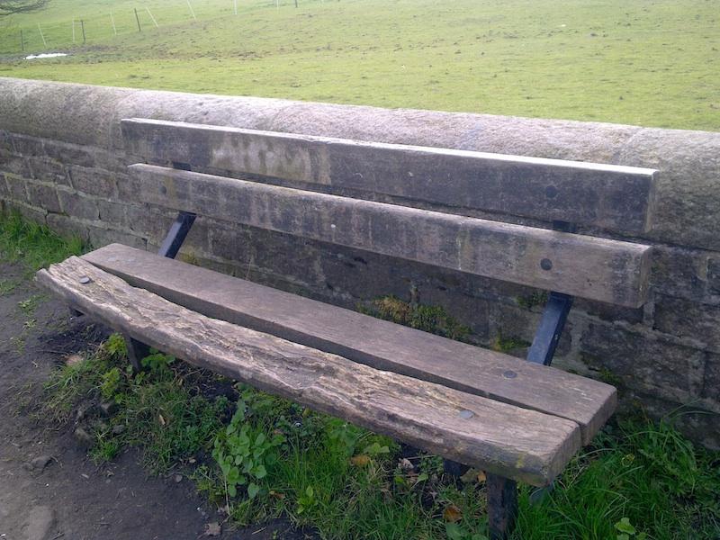 Rotten wooden bench