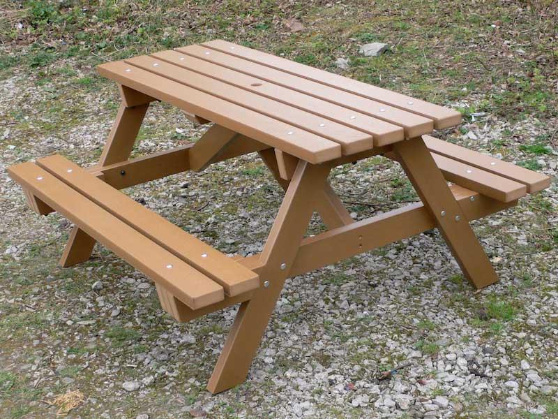 plastic wood garden furniture