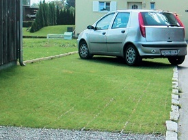 recycled plastic drainage and ground reinforcement grids