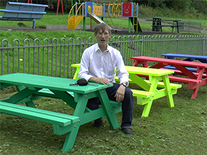 Derwent Range Recycled Plastic Junior Picnic Tables for Schools | Outdoor Furniture