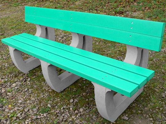 Recycled Plastic 4 Seater Bench | Colne Sports/Leisure