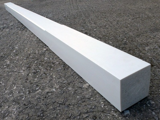 Recycled Plastic Wood Chamfered Porch Post | 88 x 88mm