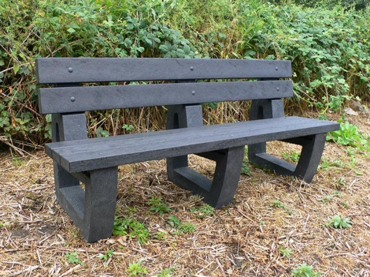 Recycled Plastic 4 Seater Garden/Park Bench | Bradley