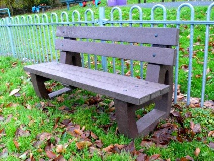 Recycled Plastic 3 Seater Garden/Park Bench | Bradley