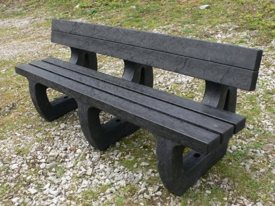 Recycled Plastic Garden Bench 4 Seater Colne by Kedel