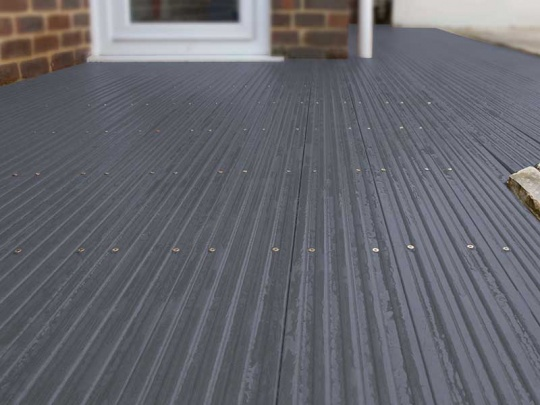 Plastic Wood Decking 120 x 20mm x 3m