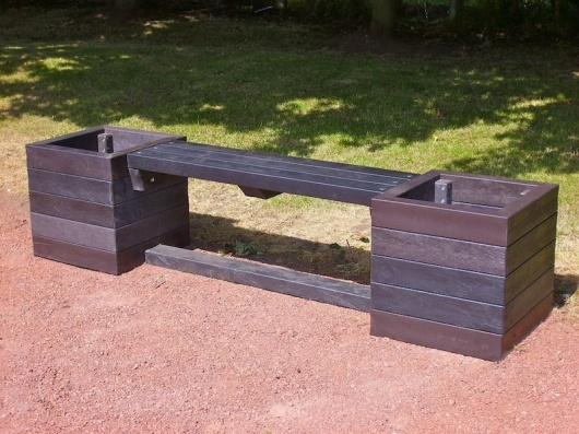 Recycled Plastic Planter Bench | Ribble