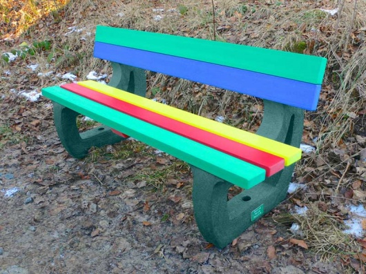 Recycled Plastic 3 or 4 Seater Bench | Multicoloured | Colne Rainbow
