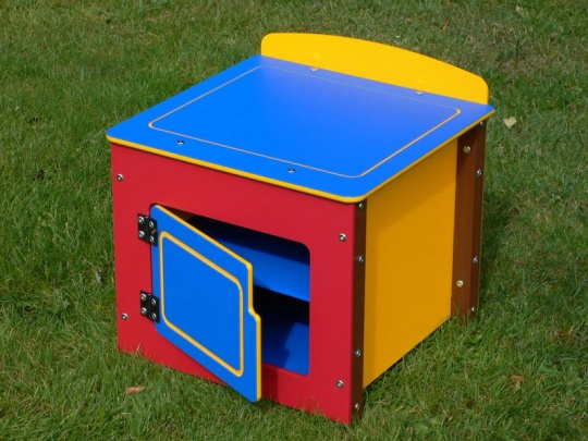 Children's Multicoloured Recycled Plastic Play Fridge Unit