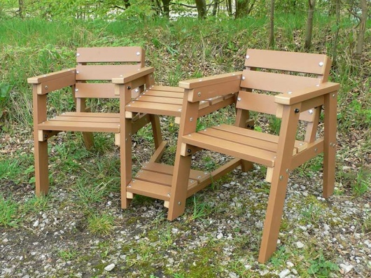 Thames Companion Seats - Recycled Plastic Wood