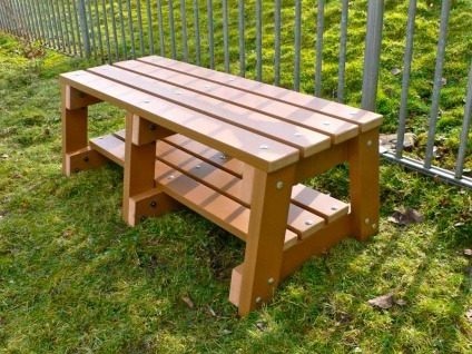 Recycled Plastic 2 Seater Bench | Thames Sports