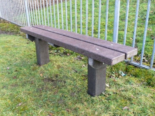 Recycled Plastic Bench | Spey Bench with Extended Legs