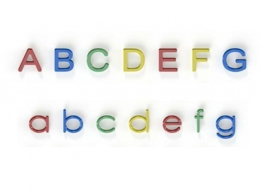 Alphabet (H)600mm - Upper and Lowercase Letters - Recycled Plastic HDPE